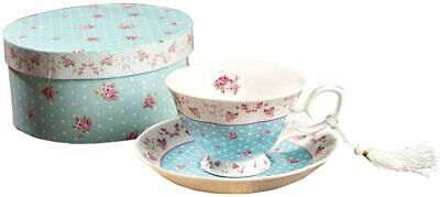Coffee Tea Cups And Saucers Set 1 New Bone China Vintage Retro Patterns  • 17.95£