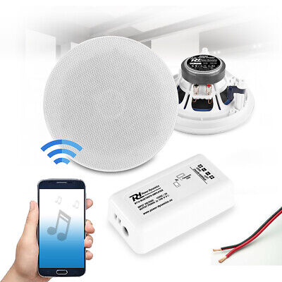 5.25  Bluetooth Ceiling Speaker And Amplifier System Home HiFi Stereo Music Set • 100£