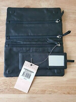AU30 • Buy Oroton Black Leather Jewellery And Accesories Pouch Wallet Purse - New With Tags