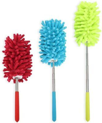 Extendable Telescopic Magic Microfibre Cleaning Feather Duster Extending Brush • 2.20£