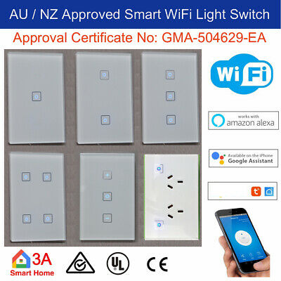 AU30.95 • Buy WiFi Smart Light Switch, Dimmer, Power Points For Normal Switch Home Automation
