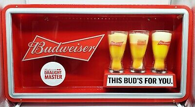 $ CDN187.61 • Buy Genuine Anheuser Busch Budweiser This Buds For You LED Bowtie Neon Sign 28  X15