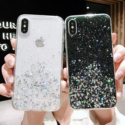 Bling Glitter Sparkly Cover Phone Case For IPhone 11 Pro Max 6s 7 8 Plus XR Gel • 3.88£