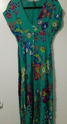 AU39 • Buy Zara Tropical Floral Dress Midi Maxi Style Size S As New 6 To 8 Summer Spring