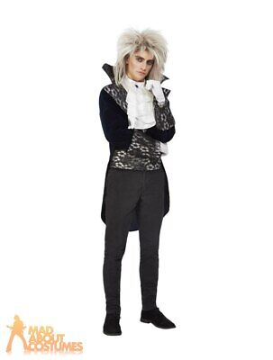 Adult Mens Baroque Goblin King Costume Labyrinth David Bowie Fancy Dress Outfit • 25.49£