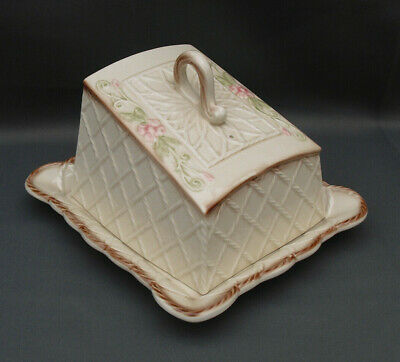 Park Rose Bridlington Pottery Lattice Cheese Dish Edwardian Look Nice Condition • 10£