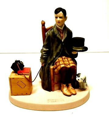 $ CDN14.46 • Buy Vintage Porcelain Figurine Norman Rockwell Self Portrait 1980  Hand Crafted RARE