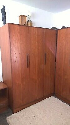 G Plan Fresco Teak Wardrobes Chest Of Drawers Bedside Cabinet SET • 700£