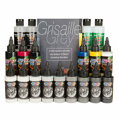£170.89 • Buy Steve Gibson's Air, Oil, Lead Grisaille Grey - Master Createx Airbrush Color Set