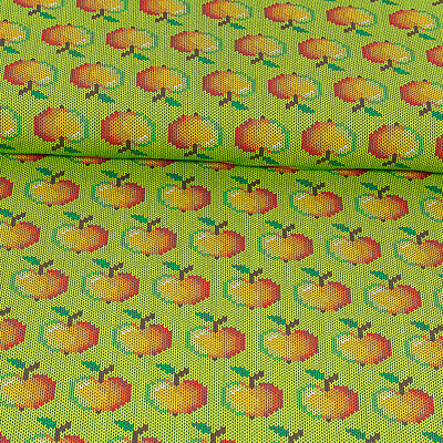 Cotton Jersey Knitted Look Apple Lime Green Kid's Modestoffe (Price = 0,5m) • 6.46£