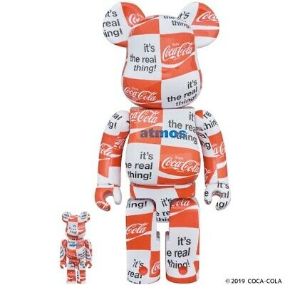 $320 • Buy Authentic Rare Medicom Atmos X Coca-Cola 100+400% 2pcs Set Bearbrick US Seller
