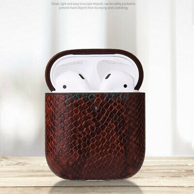 AU18.95 • Buy Airpods Earphone Charging Box Snake Skin Leather Case Cover For Airpods Pro Hook