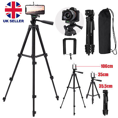 Universal Tripod Stand Telescopic Camera Phone Holder For IPhone Samsung Sony • 10.59£