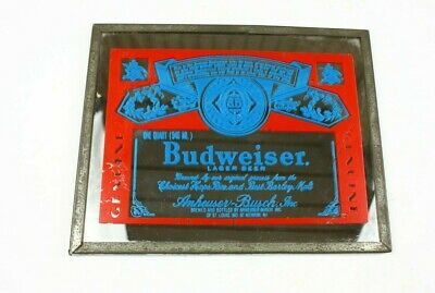 $ CDN18.97 • Buy Vintage Budweiser Mirror Carnival Prize Beer Sign 10  X 8  Man Cave