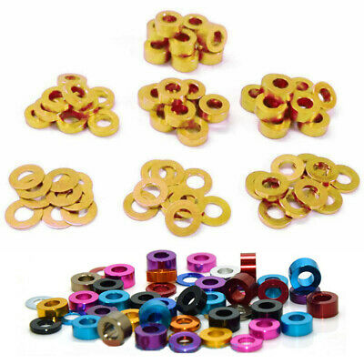 $3.16 • Buy M3 M4 M5 M6 Color Aluminum Alloy Flat Washers Round Gasket Spacer Model Anodized