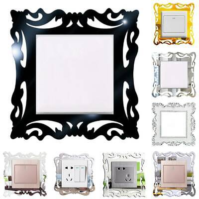 Light Switch Surround Decals Socket Plate Panel Wall Sticker Cover Home Decor • 3.89£
