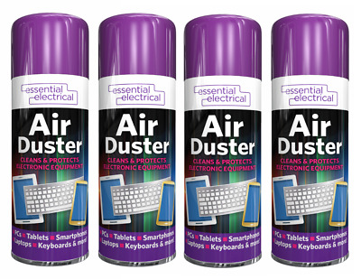 £9.99 • Buy 4x Compressed Air Duster Spray Can Cleans & Protects Laptops Keyboards[Pack Of 4