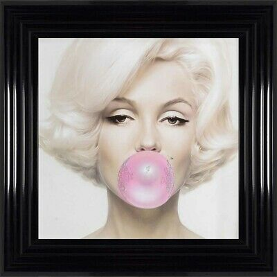 Marilyn Monroe Blowing Bubble Gum Embellished With Crystals Framed Art Artwork • 120£