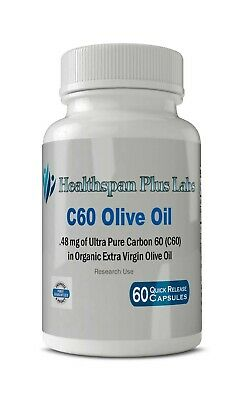 AU55.68 • Buy C60 Olive Oil Capsules Ultra Pure 99.95% Carbon 60 In Organic Olive Oil