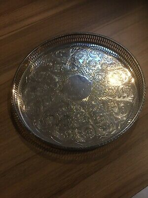 10  ALPHA PLATE Vintage Silver Tray Viners Of Sheffield. Cutlers Co. 1836 CHASED • 10£