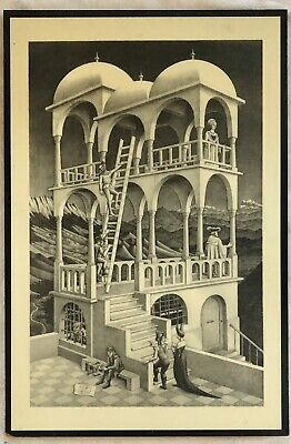 $109.95 • Buy M.C. Escher  Belvedere Large Print Shellacked On Wood. Very Cool!!!!
