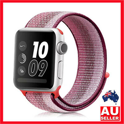 AU6.50 • Buy New Apple Watch Series 6 5 4 3 2 1 Nylon Wooven Band 38 40 42 44mm