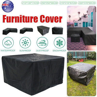 AU19.59 • Buy Waterproof L Shape Furniture Cover Outdoor Garden Rattan Corner Sofa Protection