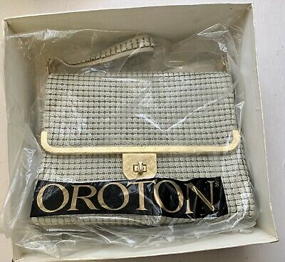 AU49.95 • Buy Vintage Oroton Hand Bag Metal Mesh Glomesh With Golden Trim Boxed