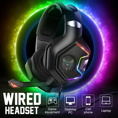 AU53.96 • Buy K10 Gaming Headset MIC LED Headphones Surround For PC Mac Laptop PS4 Xbox One