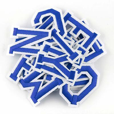 £0.99 • Buy Blue Letter Patch Patches Sew On Iron On Alphabet Embroidered Clothes Letters
