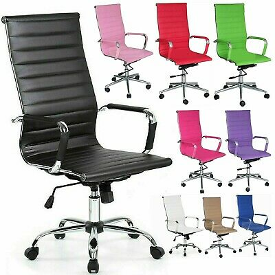 £84.99 • Buy Home Computer Executive Office Desk Chair Faux Leather PU Swivel High Back Seat