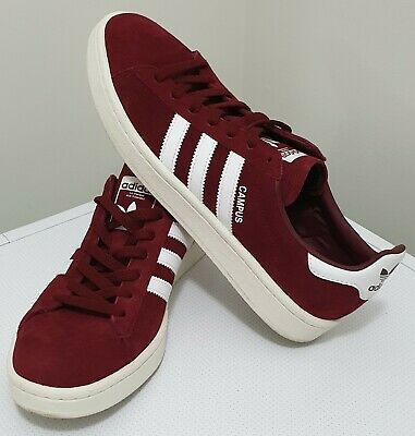 AU84.90 • Buy ADIDAS Men's ORIGINALS CAMPUS Shoes Sneakers Burgundy US10 UK9.5 Suede Skate