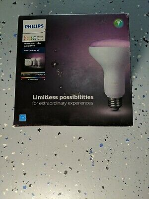 AU110.92 • Buy Philips Hue BR30  White And Color Ambiance Starter Kit