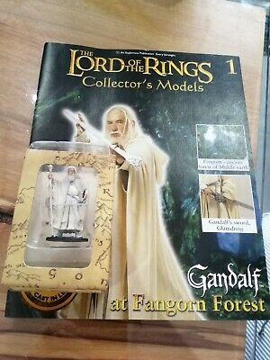 LORD OF THE Rings GANDALF Boxed EAGLEMOSS FIGURE Figurine AND MAGAZINE.  • 10£