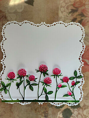 Tattered Lace X2  Pink Flowers Die Cuts Card Topper Birthday Anniversay Easter • 2.90£