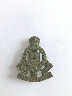 Vintage Military Royal Corps Army Ordnance  Brass Army Hat, Cap Band Badge  • 8£
