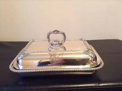 Rare Ducal Crested Antique Sheffield Silver Plated Entree Serving Dish • 175£
