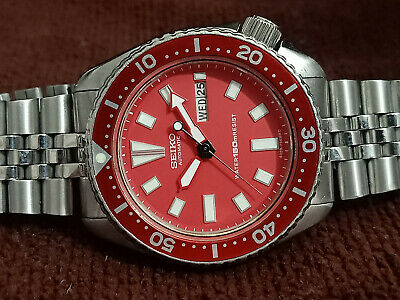 $ CDN208.49 • Buy Vintage Seiko Diver 6309-729a Red Face Mod Automatic Men Watch 7d2081