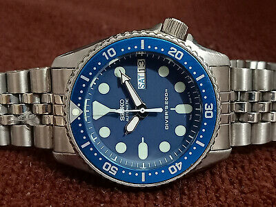 $ CDN48.27 • Buy Lovely Blue Modded Seiko 7s26-0030 Skx013 Automatic Mens Watch Sn 050974