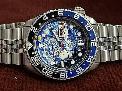 $ CDN150.84 • Buy Vintage Seiko Diver 6309-7290 The Starry Night Modded Automatic Men Watch 600746
