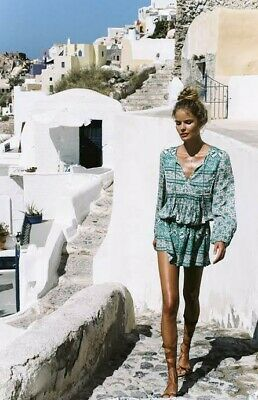 AU249 • Buy Spell Designs Kombi Boho Dress Sage Xs