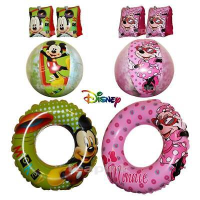 £3.49 • Buy Disney Mickey Minnie Mouse Inflatable Swim Ring Armbands Beach Ball Kids Toys