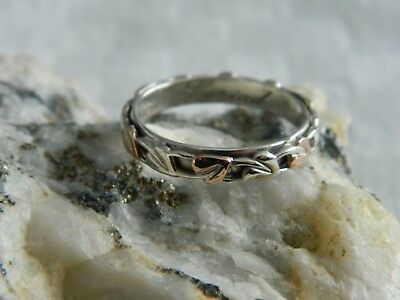 Clogau Sterling Silver & 9ct Rose Gold Tree Of Life Ring RRP £99.00 Size P • 69.95£