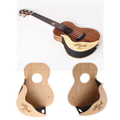 AU27.66 • Buy Guitar Stand Wooden Ukulele Wall Mount Support Display Rack Parts Accessory