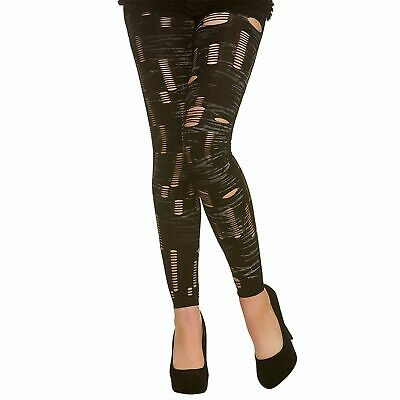 £4.59 • Buy Footless Zombie Tights Halloween Adults Womens Fancy Dress Costume Accessory
