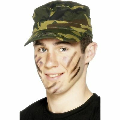 £5.09 • Buy Camoflage Army Soldier Hat Cap Green Adults Mens Fancy Dress Accessory