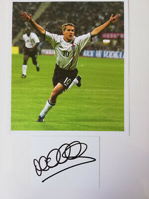 £8.95 • Buy Michael Owen England Hat-trick Legend Hand-signed England 5-1 Germany Picture
