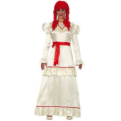 Ladies Annabelle Costume Adults Halloween Horror Doll Fancy Dress Womens Outfit • 18.95£