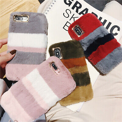 Fashion Fluffy Furry Plush Fur Soft Phone Case Cover For IPhone 11 6 7 8 XS Plus • 4.66£