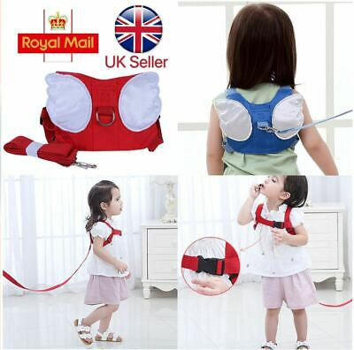 Baby Safety Walking Harness Child Toddler Kids Wing Strap Belt Keeper Reins Aid • 6.38£